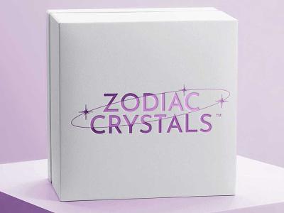 Zodiac Crystals Logo jewellery illustrator branding logo