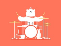 Polar bear&Drum