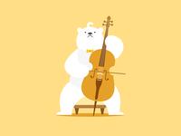 Polar bear&Cello