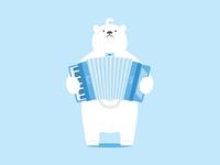 Polar bear&Accordion