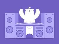 Polar bear&DJ