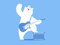 Polar bear&Rock