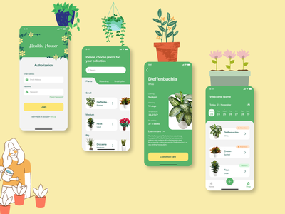 Health Flower plants flowers flower application mobile app mobile mobile app design ux app ui design