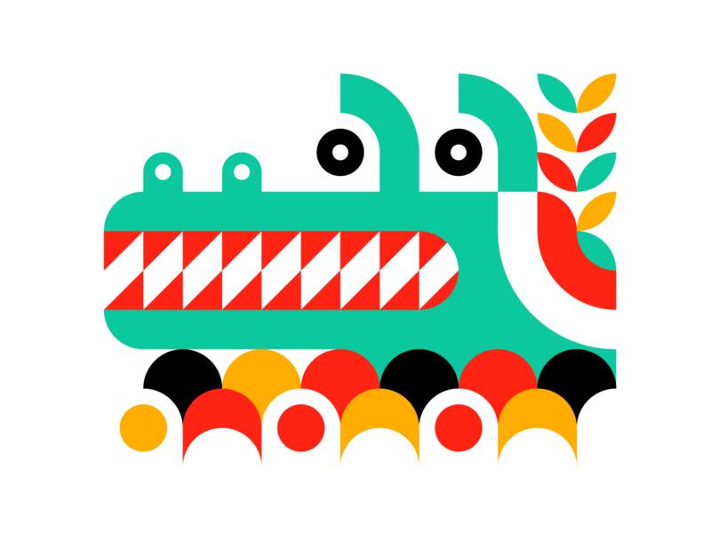 Alligator simple animal illustration animal art graphic design bright animal outdoors nature minimalist illustration illustrator icon flat 2d design vector
