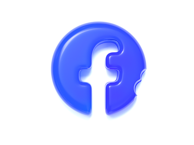 Facebook logo (gummy style) branding design facebook graphicdesign letter f mark clean conceptual design logo design concept creative realistic logo design c4d cinema 4d 3d gummy graphic design facebook logo logo icon illustration
