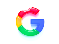 Gummy Google branding graphicdesign letter g mark clean conceptual design logo design concept creative realistic logo design icon google logo logo c4d cinema4d 3d gummy google design illustration