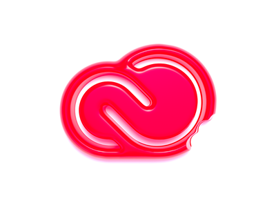 Adobe Creative Cloud logo (gummy style) concept idea 3d design red gummy cinema4d c4d realistic creative logo design concept conceptual design logo mark logo creative cloud 3d art graphicdesign branding 3d icon design illustration