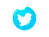 Twitter logo (gummy style) concept gummy style visual art twitter logo gummy icon visual design graphicdesign 3d art graphic design logo mark branding concept c4d realistic cinema 4d visualization logo illustration design twitter
