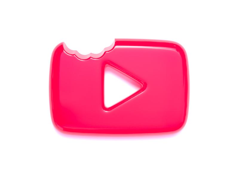 YouTube logo (gummy style) visualization cinema 4d realistic branding concept mark graphic design logo branding c4d 3d art graphic design designs cinema4d 3d icon gummy youtube logo logo youtube design illustration