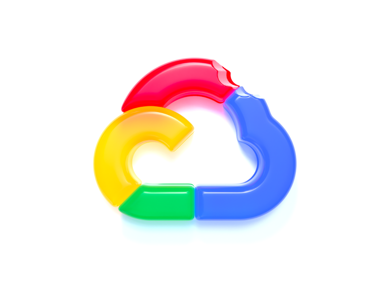 Google Cloud logo (gummy style) web branding concept gummy style google cloud logo visualization realistic mark logo icon graphic design logo google gummy c4d cinema4d graphicdesign branding 3d art 3d design illustration