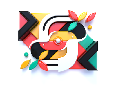 Synergy pattern c4dart bright color character concept character geometric abstract concept art concept design 3d art synergy graphic design c4d cinema 4d 3d minimalist icon design illustration