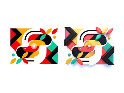 Synergy (flat + 3D) digital art art c4d cinema 4d concept abstract character design minimal 3d art 3d realistic render character illustrator flat icon 2d illustration design vector