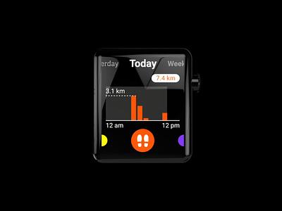 Apple Watch | Health/Fitness Tracking App ui design icon gui prototype health interface ui  ux 2d animation 2d motion 3d watch app motion design smart watch ios apple watch animation design ui