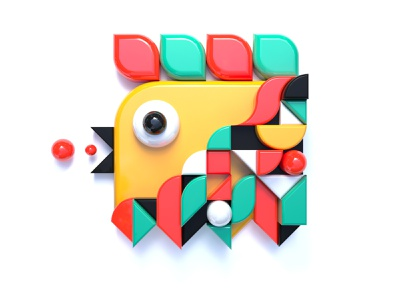 Geometric Bird icon design 3d icon 3d design graphicdesign render icon geometric shape c4d simple 3d cinema 4d illustration bird illustration visual design animal bird