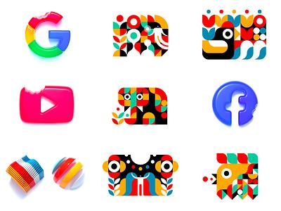Best 9 shots (2020) design vector icon logo logo design 2020 best 9 best 9 dribbble flat google graphic design logo animal cute animal cute shape 3d render facebook abstract graphic design