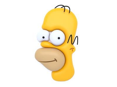 Homer Simpson simpsons the simpsons homer simpson homer 3d illustration visual cinema4d color clean concept 3d c4d cinema 4d graphic art graphic design character design character design