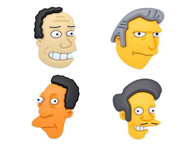 The Simpsons (part 5) graphic design design character design character iconic graphic art cinema4d c4d concept clean color cinema 4d illustration 3d illustration 3d