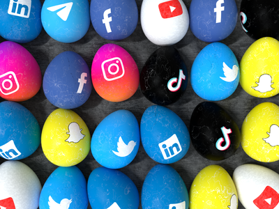 Happy Easter design illustration graphic design branding logo holiday linkedin telegram snapchat tiktok youtube facebook twitter instagram social media easter egg egg easter c4d cinema 4d