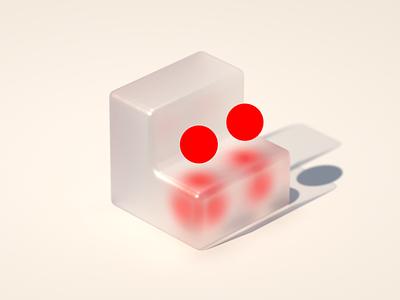 Barely a Cube visual dot red bold cg cgi 3d design corona renderer c4d cinema 4d concept design concept design illustration