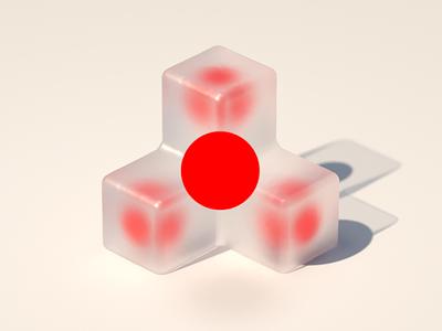 Focal point 3d design 3d render cgi cg cinema 4d c4d shape geometric illustration icon concept design concept brand branding focus bold red dot design