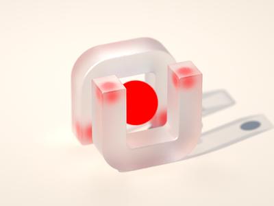 Hiding visualization concept design cinema 4d c4d frosted bold red brand branding 3d design artwork render