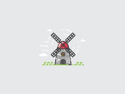 Windmill - Infographic Template grinding nature presentation infographics power flat design icon infographic windmill mill wind