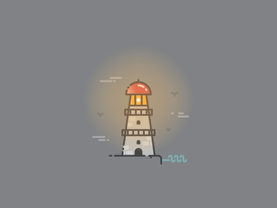 Lighthouse - Infographic Template badge pictogram icon building tower shore sea marine light infographics infographic lighthouse