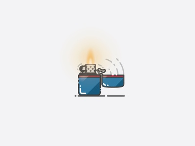 Lighter - Infographic Template illustration pictogram light illustrator vector zippo infographic template icon fire lighter
