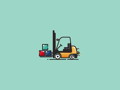 Forklift Truck - Infographic template pictogram logo icon cargo infographics illustration logistics logistic infographic truck forklift