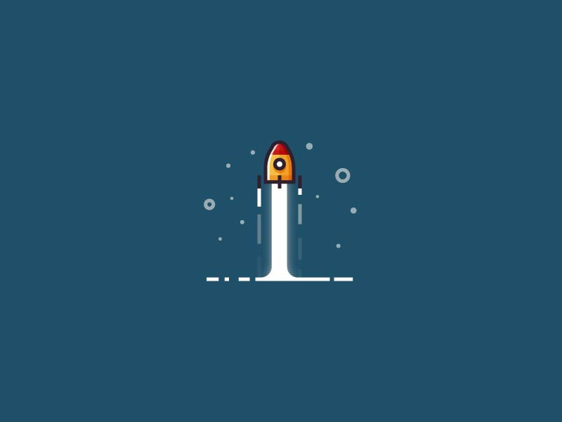 Rocket launch - minimalistic version by Infographic Paradise - Dribbble