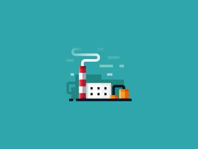 Factory - vector illustration