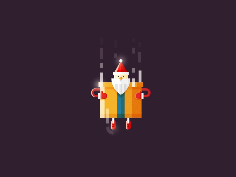 Santa Claus is coming character holiday illustration design flat ui 2d gift xmas christmas santa claus santa