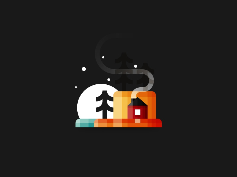 Little House Minimalist Design By Infographic Paradise Dribbble