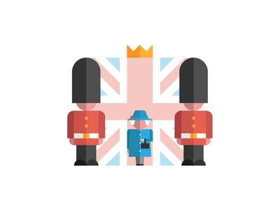 Her Majesty The Queen minimal design minimalist illustration vector guard contest playoff great britain uk elizabeth queen