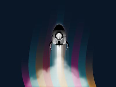 Take Off space rocket rocket launch ui machine illustration vector web design exploration spacecraft illustrator