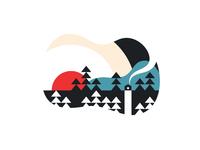 Sunset - Minimalist Outdoors illustration