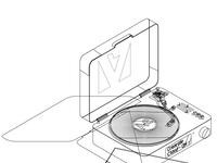 Vinyl wireframe 01