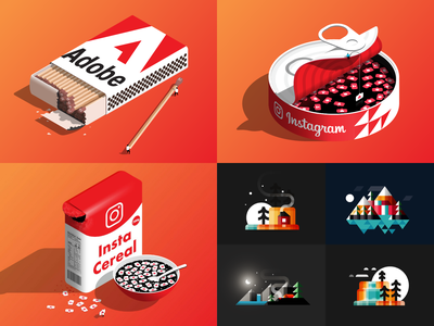 Wrapping up 2019 drawing 2.5d flat adobe nature isometric 2.5 icon minimalist illustrator 2d vector design illustration
