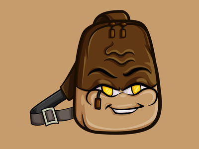 Choco Bag brown bag cartoon character artwork vector adobe illustrator illustrator illustration