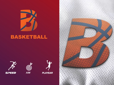 BASKETBALL LOGO letter label insignia illustration emblem element design concept competition colorful collection club championship branding basketball basket banners banner ball badge