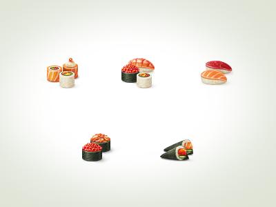 Sushi icons icon icons
