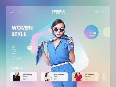 Scavalli Fashion Website e-shop image clothes lookbook e-commerce shop entrepreneur startup business halo lab halo colourful design website
