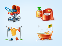 Icons for Baby Shop