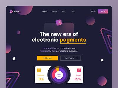 Walletz Website money finance e-wallet electronic payment payment web design entrepreneur startup business halo lab halo colourful design website