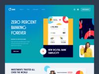 0 Bank Website money service financial finance money banking web ux ui startup service website interface