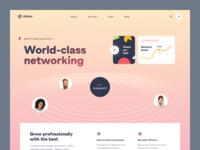 Orbitz Website cooperation networking professional development co-working web ux ui startup service website interface