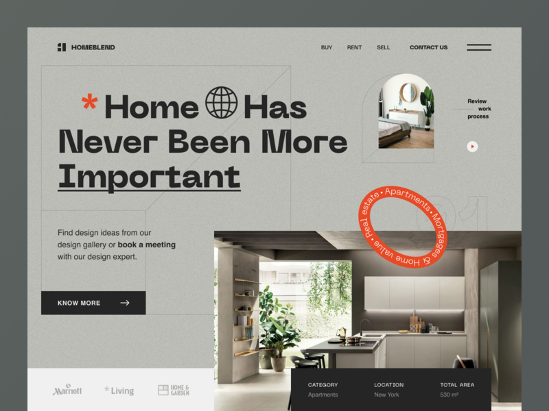 Homeblend Website interior design home design portfolio interior home web ux ui startup service website interface
