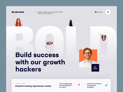 We Are Bold Website network founders community business web ux ui startup service website interface