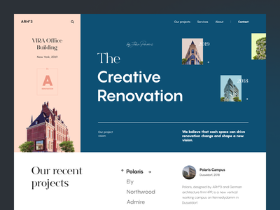 Arch03 Website building modern renovation web ux ui startup service website interface