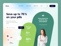 Pillzefy Website treatment pills drugs pharmacy web ux ui startup service website interface